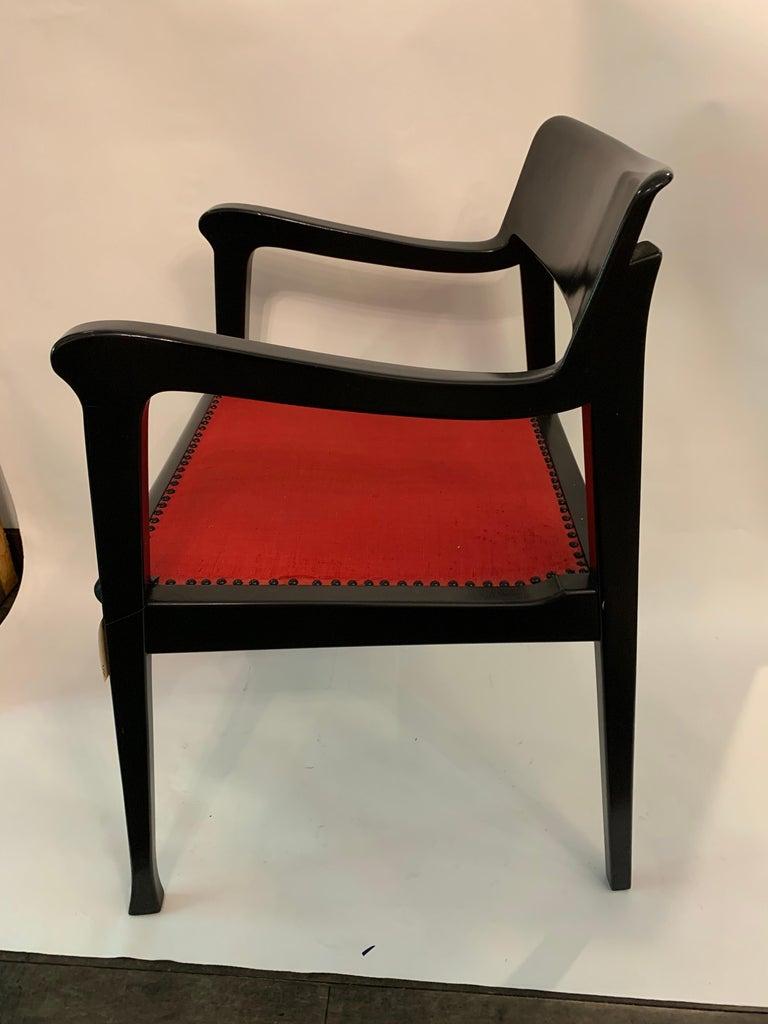 Post-Modern Jack Lenor Larsen Chair by Riemerschmid, Signed For Sale
