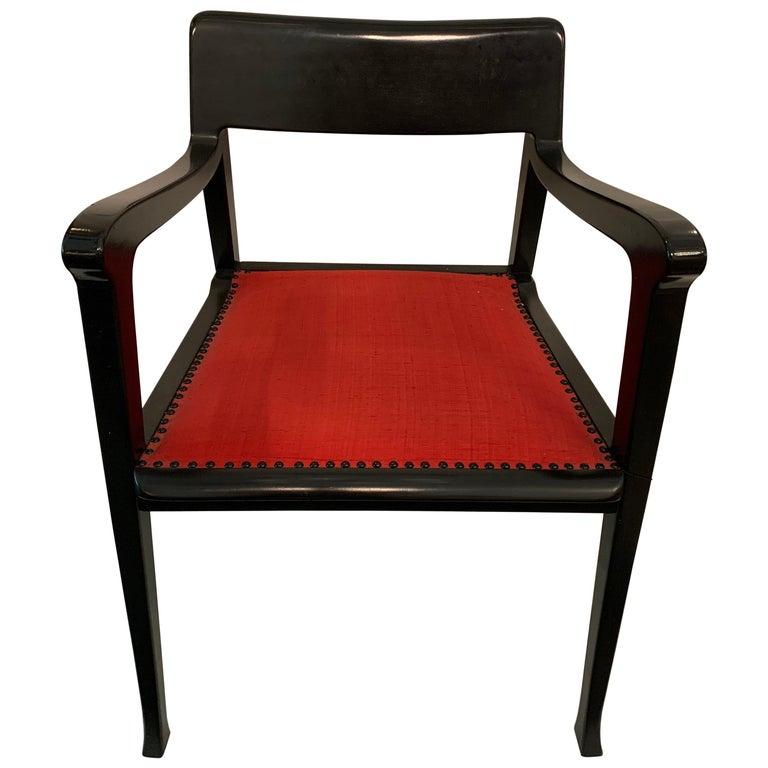Jack Lenor Larsen Chair by Riemerschmid, Signed For Sale