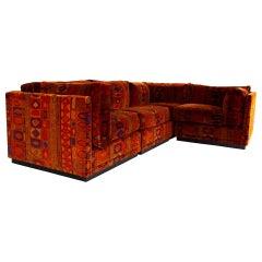 Jack Lenor Larsen for Directional Mid Century Sectional Sofa