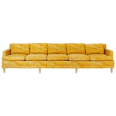 Jack Lenor Larsen 5 Seat Sofa on Brass Legs