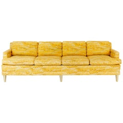 Jack Lenor Larsen 4 Seat Sofa on Brass Legs