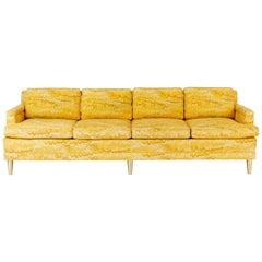 Jack Lenor Larsen 4 Seat Sofa on Brass Legs