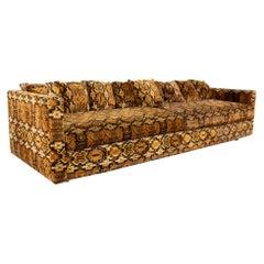 Jack Lenor Larsen Style Mid Century 4 Seater Sofa