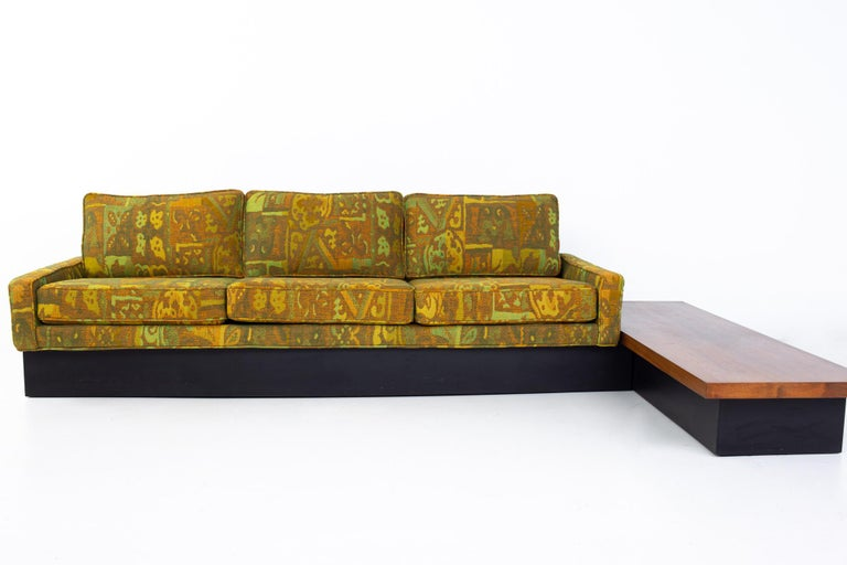 Mid-Century Modern Jack Lenor Larsen Style Milo Baughman for Thayer Coggin Mid Century Sectional S For Sale