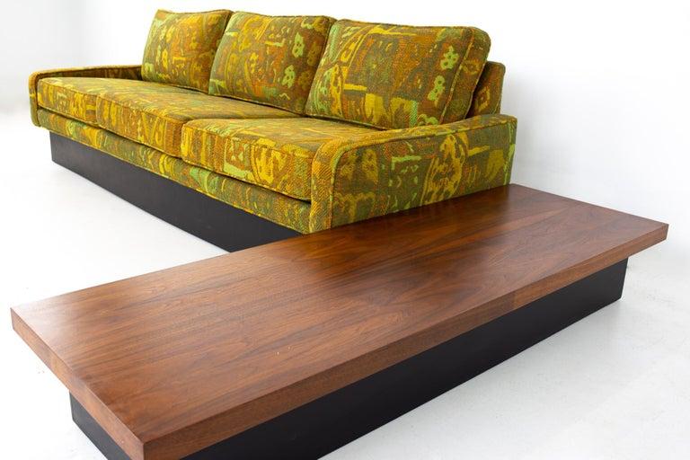 Upholstery Jack Lenor Larsen Style Milo Baughman for Thayer Coggin Mid Century Sectional S For Sale