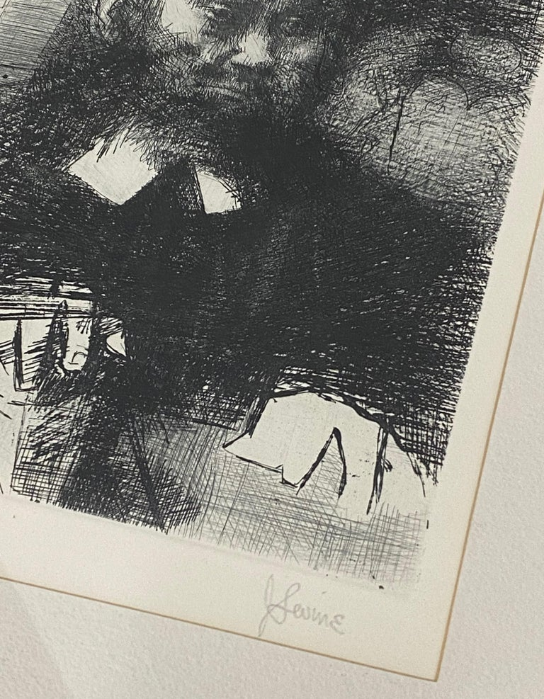 The Rabbi In His Study - Print by Jack Levine