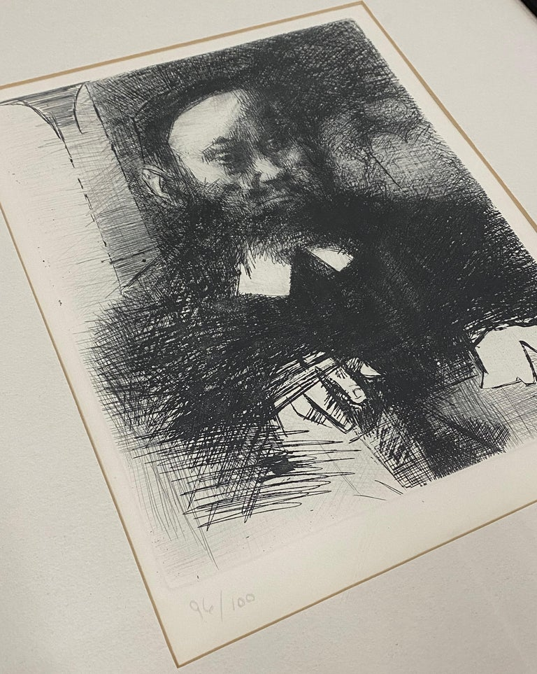 The Rabbi In His Study - Other Art Style Print by Jack Levine