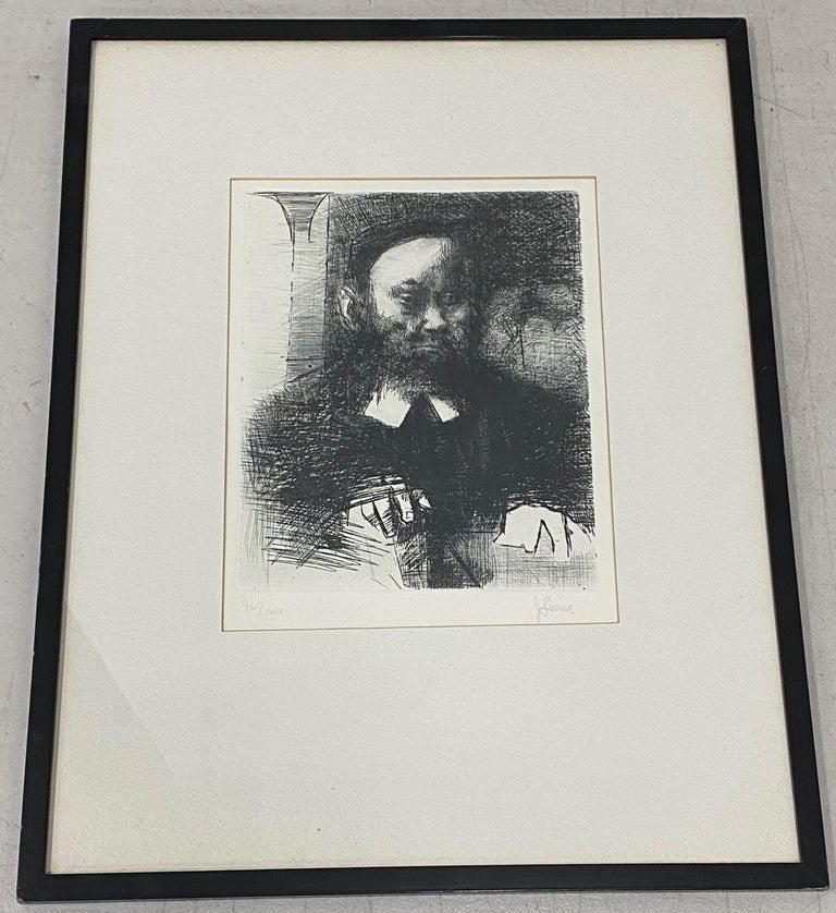 Jack Levine Portrait Print - The Rabbi In His Study