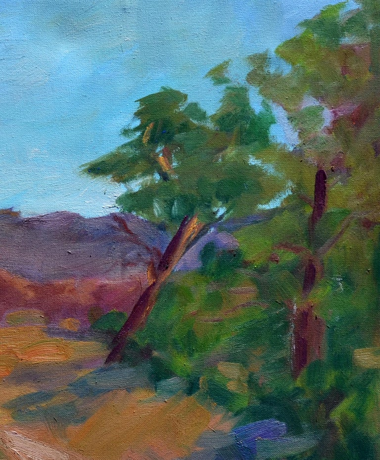 Distant Mountains Landscape - Impressionist Painting by Jack Lynn