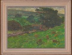 Jack Millar (1921-2006) - English 20th Century Oil, Cattle on a Yorkshire Farm