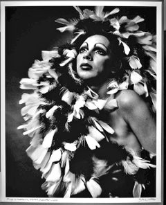 """16 x 20""""  Andy Warhol Superstar Holly Woodlawn, signed by Jack Mitchell"""