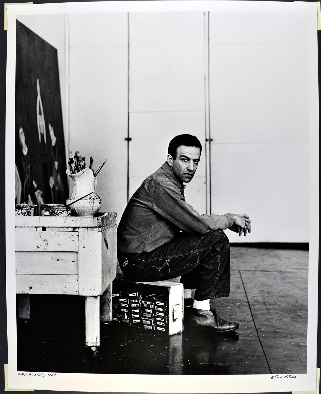 "16 x 20"" Artist Alex Katz in his Studio, signed by Jack Mitchell"