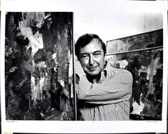 """16 x 20"""" Artist Jasper Johns in his Studio, signed by Jack Mitchell"""