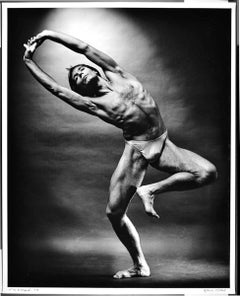 "16 x 20"" choreographer/dancer Tim Wengerd performing, signed by Jack Mitchell"