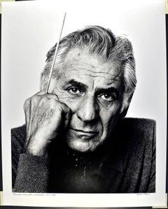"16 x 20"" Composer/conductor Leonard Bernstein, signed by Jack Mitchell"