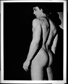 "16 x 20"" dancer Brian Destazio, dot screen nude study, signed by Jack Mitchell"