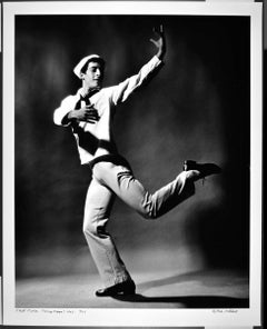 "16 x 20"" Dancer/Choreographer Eliot Feld in 'Fancy Free' signed by Mitchell"
