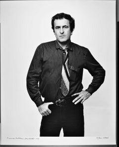 "16 x 20""  Italian film director Bernardo Bertolucci, signed by Jack Mitchell"