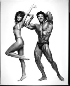 "16 x 20"" Mr. Olympia winner Frank Zane & wife Christine, signed by Jack Mitchell"