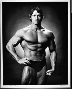 "16 x 20"" professional bodybuilder Arnold Schwarzenegger, signed by Jack Mitchell"