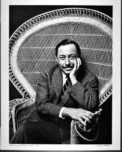 """16 x 20"""" Pulitzer prize-winning playwright Tennessee Williams signed by Mitchell"""