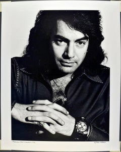 "16 x 20"" Singer-songwriter Neil Diamond, signed by Jack Mitchell"
