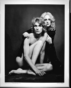 "16 x 20"" Warhol Superstar Candy Darling and Dorian Gray signed by Jack Mitchell"
