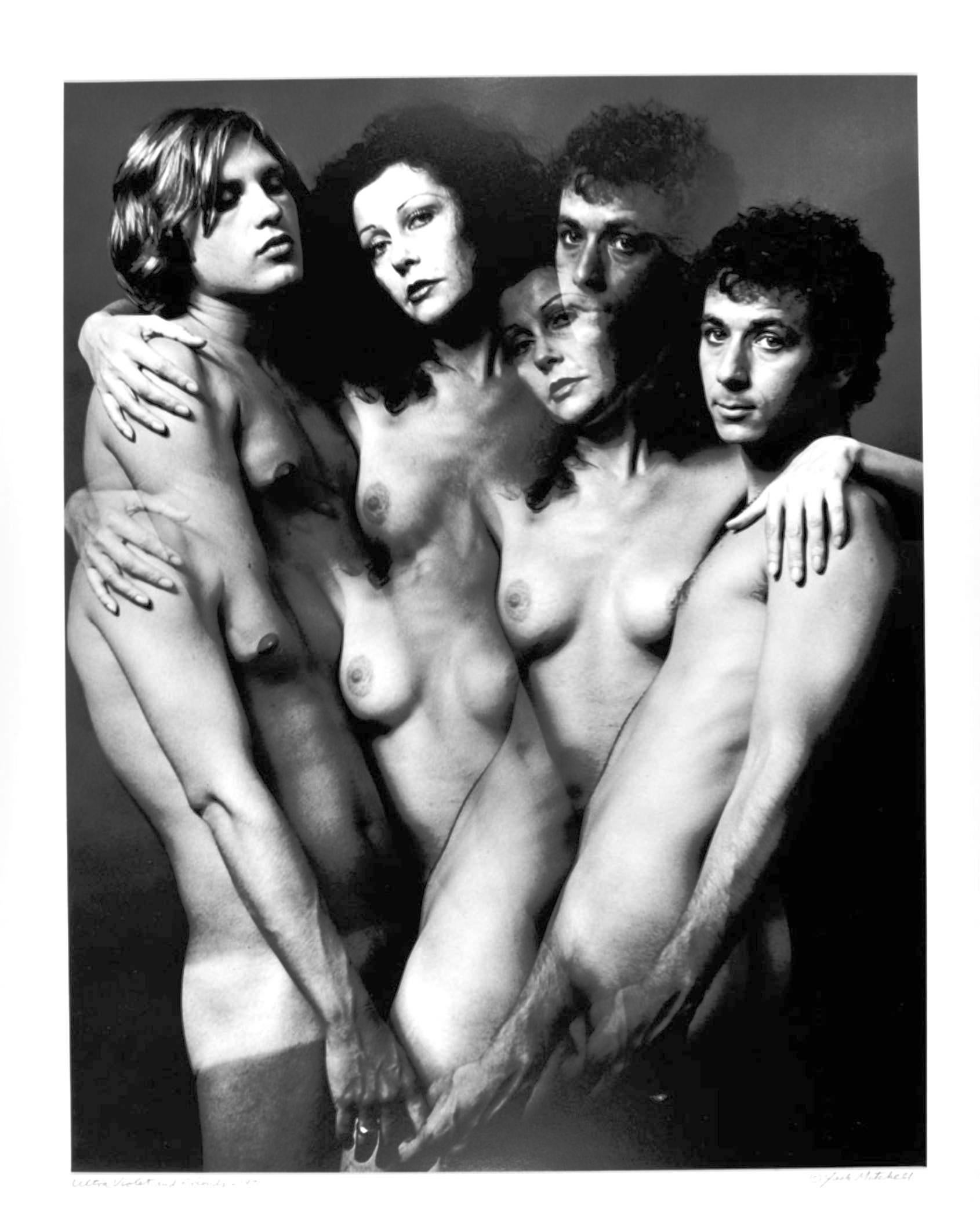 """16 x 20"""" Warhol Superstar Ultra Violet & Friends nude, signed by Jack Mitchell"""