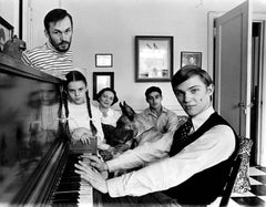 16 year old 'The Waltons' actor Richard Thomas at home with his family