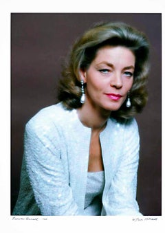 Academy Award-winning actress Lauren Bacall, signed by Jack Mitchell