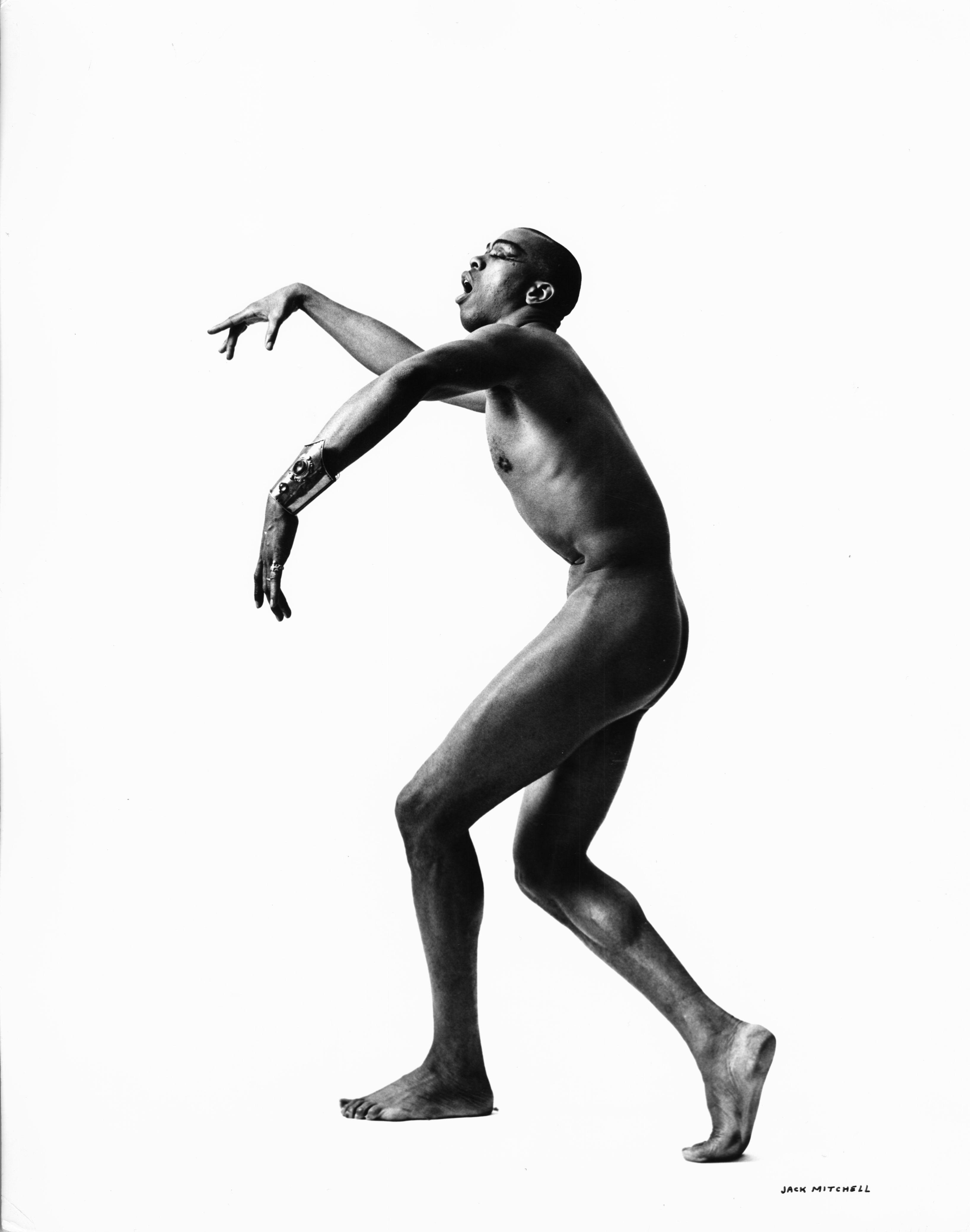 Actor, Choreographer, Dancer Geoffrey Holder, nude, signed by Jack Mitchell