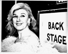 Actress Ginger Rogers backstage at NBC Studios in Rockefeller Center