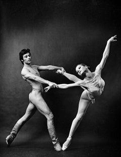 Adagio dancers Luis Villanueve and Zinaida Yeviko, signed by Jack Mitchell