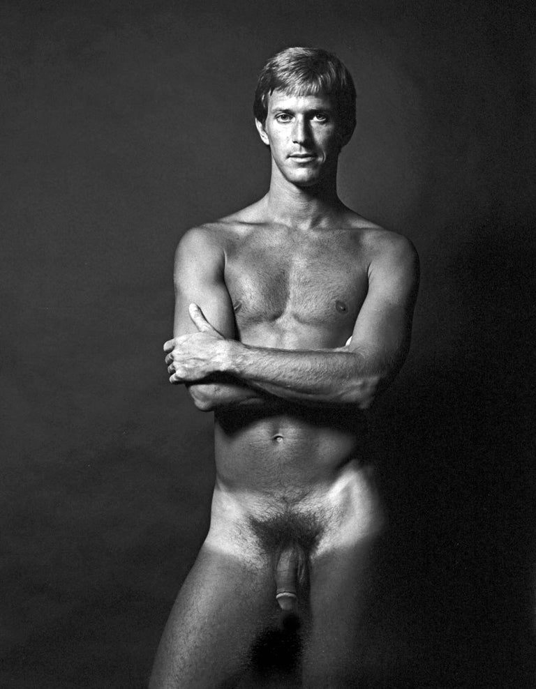 Adult film star Cal Culver (AKA Casey Donovan) 'After Dark' magazine nude study, photographed in 1972. This is a vintage gelatin silver print, selenium toned, made by hand by master photographer Jack Mitchell and signed on the verso in pencil. Comes