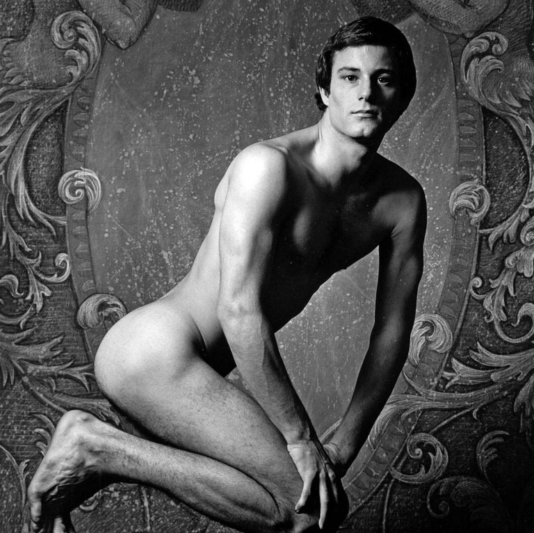 After Dark male model  Mikel Peters, nude, signed by Jack Mitchell For Sale 1