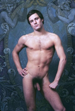 After Dark male model Mikel Peters, nude, signed by Jack Mitchell