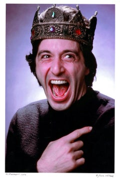 Al Pacino starring in 'Richard III' on Broadway, signed by Jack Mitchell