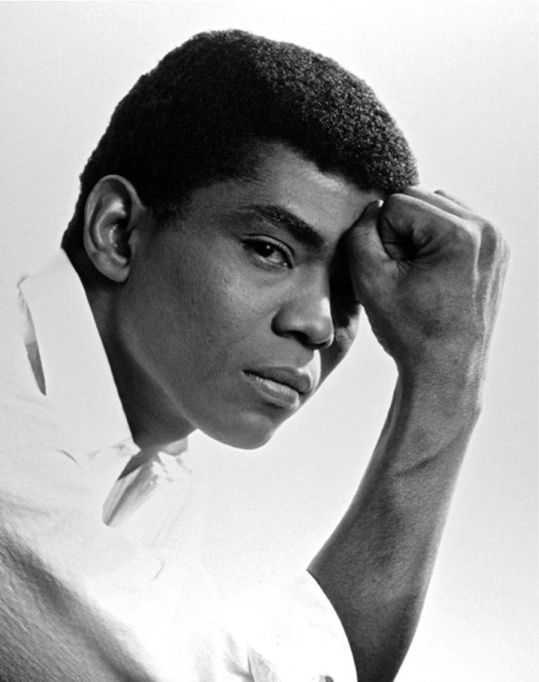 Jack Mitchell Black and White Photograph - Alvin Ailey studio portrait.