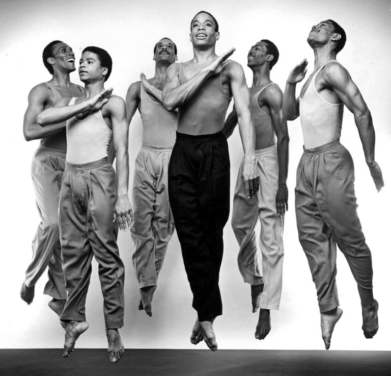 Alvin Ailey Company performing Bill T. Jones's 'Fever Swamp' - Photograph by Jack Mitchell