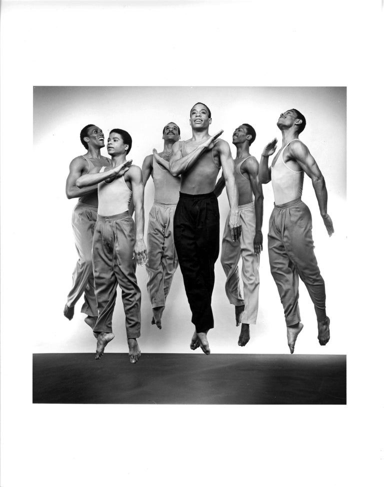 Jack Mitchell Black and White Photograph - Alvin Ailey Company performing Bill T. Jones's 'Fever Swamp'