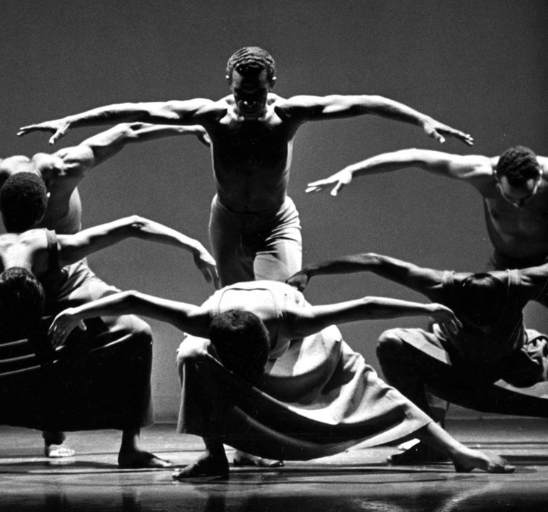 Alvin Ailey Company performing 'Revelations' - Photograph by Jack Mitchell