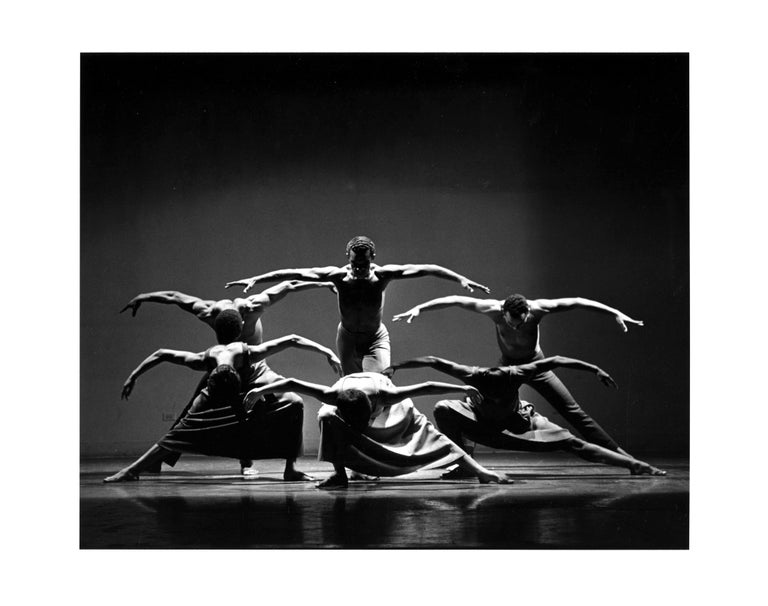 Jack Mitchell Black and White Photograph - Alvin Ailey Company performing 'Revelations'