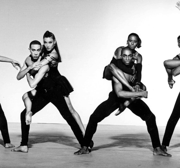 Alvin Ailey Company performing 'The Dance at the Gym' - Photograph by Jack Mitchell