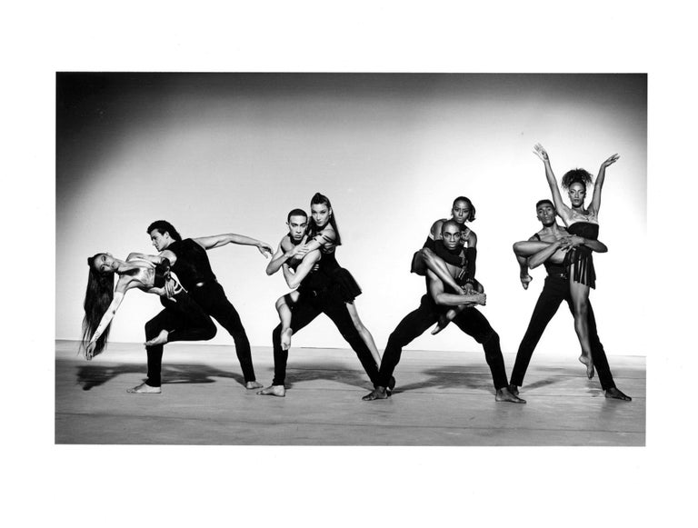 Jack Mitchell Black and White Photograph - Alvin Ailey Company performing 'The Dance at the Gym'