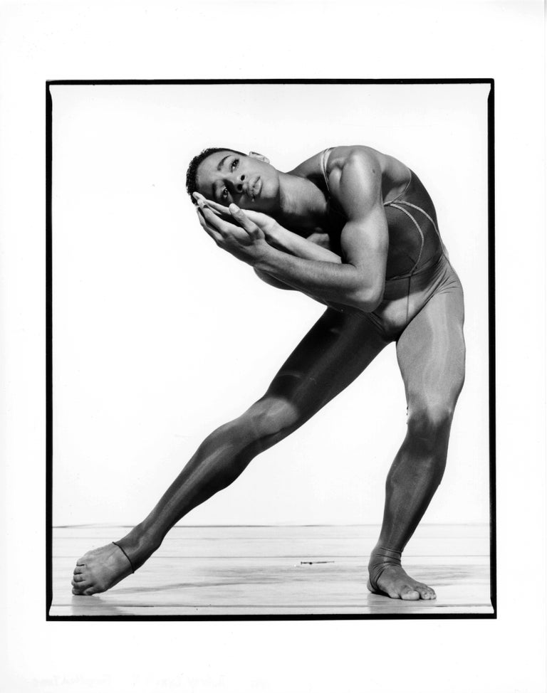 Jack Mitchell Black and White Photograph - Alvin Ailey dancer Aubrey Lynch II performing 'Forgotten Time'
