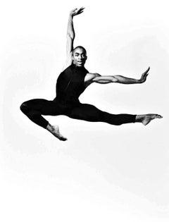 "Alvin Ailey dancer Desmond Richardson in ""North Star"", signed by Jack Mitchell"
