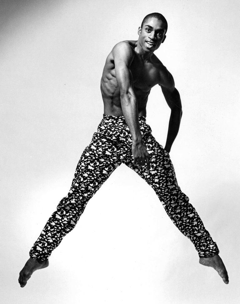 Alvin Ailey dancer Desmond Richardson performing Louis Falco's 'Escargot' - Photograph by Jack Mitchell