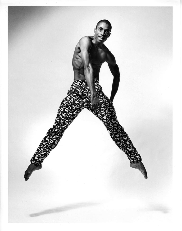 Jack Mitchell Black and White Photograph - Alvin Ailey dancer Desmond Richardson performing Louis Falco's 'Escargot'
