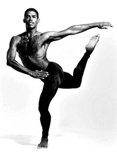 Alvin Ailey dancer Don Bellamy, signed by Jack Mitchell
