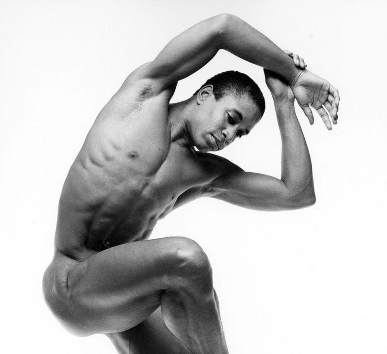 Alvin Ailey dancer Keith McDaniel, nude, signed by Mitchell - Photograph by Jack Mitchell